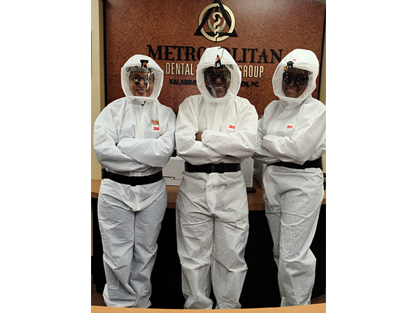 Metropolitan Dental Speciality Group Three Staff in PPE